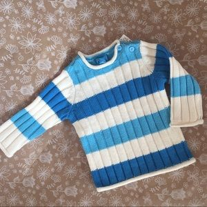 NWT Children's Place Girls Blue and White sweater